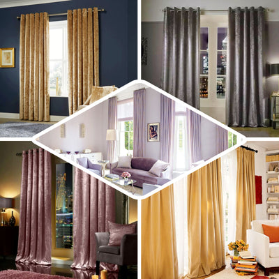 Champagne Blackout Curtains | Pack of 2 | 52 x 108 Inch Blackout Curtains | Room Darkening Curtains With Grommets