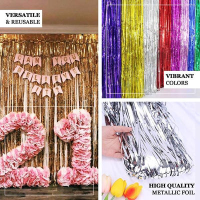 Metallic Foil Fringe Curtain - Doorway and Party Backdrop Curtain | eFavorMart