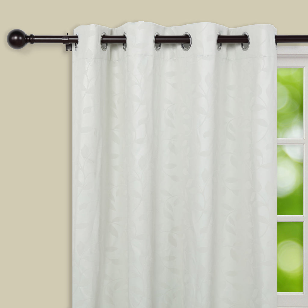42 126 1 Dia Adjustable Curtain Rod Set Bronze Round Finials