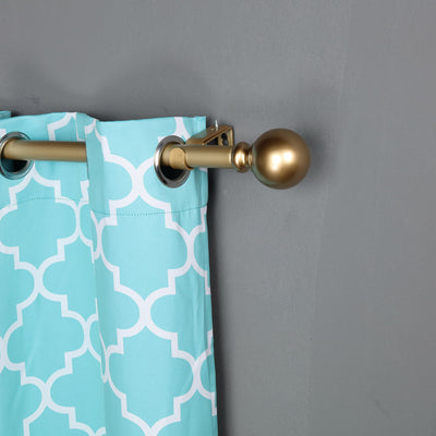 "Metal Single Adjustable Curtain Rod | 42""-126"" 