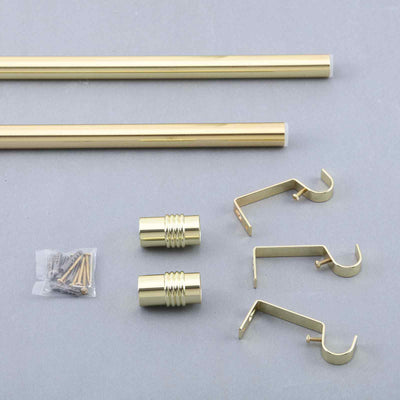 Curtain Rods | Metal Adjustable Curtain Rods | Designer Cylinder Finials