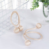 Pack of 2 | Champagne Magnetic Curtain Tie Backs for Window Curtains and Drapes
