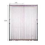 12FT Long Lavender Silk String Tassel Backdrop Curtain Panel