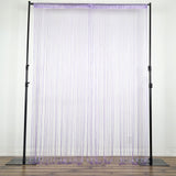 12 Ft | Lavender Silk String Tassel Backdrop Curtain Panel | Party Decorative Curtains