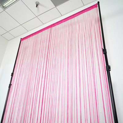 12 Ft Long Fuchsia Silk String Tassels Backdrop Curtains for Party