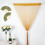 12 Ft Long Champagne Silk String Tassels Backdrop Curtains for Party
