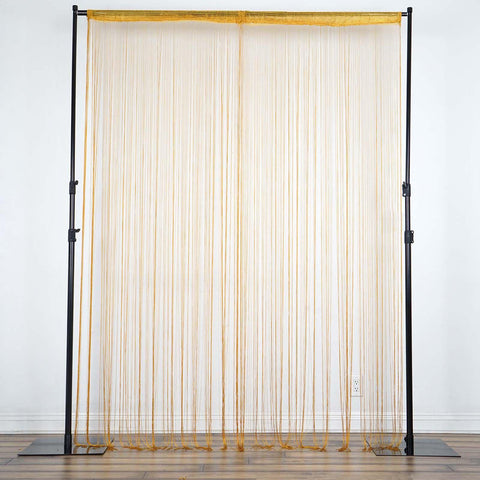 3ft x 12ft Gold Silk Tassel Door String Curtain For Wedding Home