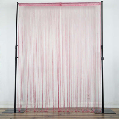 12 Ft Long Pink Silk String Tassels Backdrop Curtains for Party