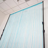 12 Ft Long Turquoise Silk String Tassels Backdrop Curtains for Party