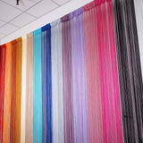 8 Ft Long Ivory Silk String Tassels Backdrop Curtains for Party