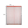 8FT Long Red Silk String Tassels Backdrop Curtains for Party