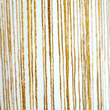 3FT x 8FT Gold Silk Tassel String Curtains, Decorative Room Dividers