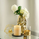 "2 Pack | 7"" Gold Mercury Glass Vases 