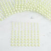 6 Sheets | 486 Pcs Multi-sized Apple Green Self Adhesive Pearl Rhinestone DIY Stickers