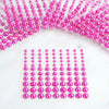 486 Pcs Self Adhesive Multi-sized Fuchsia Diamond Rhinestone Pearl shaped DIY Stickers