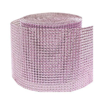 10 Yards Pink HOLLYWOOD-STYLE Endless Diamond Roll