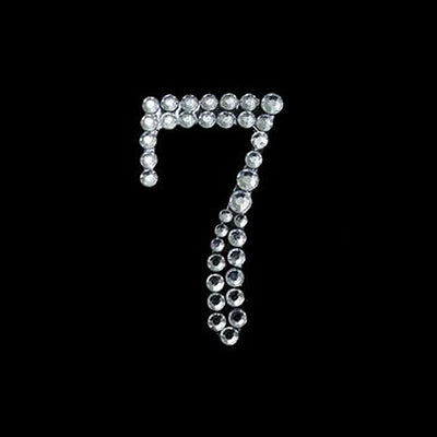 10 PCS Crystal Number Rhinestones - 7