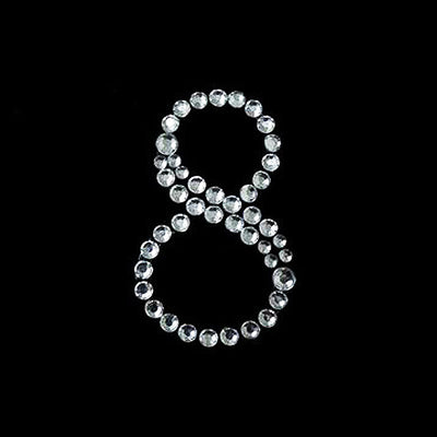 10 PCS Crystal Number Rhinestones - 8