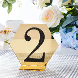 4 inch Black Self-Adhesive Rhinestone Number Stickers for DIY Crafts - 2