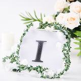 4 inch Black Self-Adhesive Rhinestone Letter Stickers, Alphabet Stickers for DIY Crafts - I