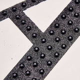 4 inch Black Self-Adhesive Rhinestone Letter Stickers, Alphabet Stickers for DIY Crafts - M