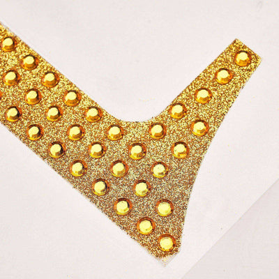 Gold Self-Adhesive Rhinestone Number Stickers for DIY Crafts - 6