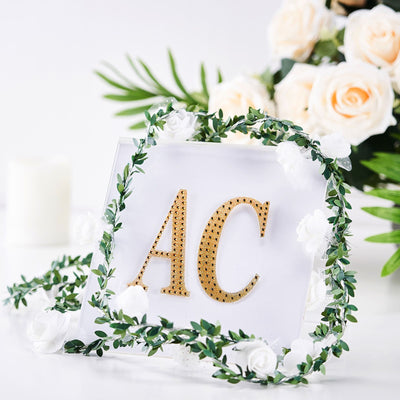 Gold Self-Adhesive Rhinestone Letter Stickers, Alphabet Stickers for DIY Crafts - I