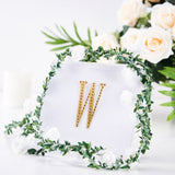 Gold Self-Adhesive Rhinestone Letter Stickers, Alphabet Stickers for DIY Crafts - W
