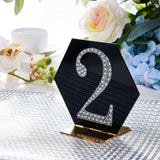 4 inch Silver Self-Adhesive Rhinestone Number Stickers for DIY Crafts - 2