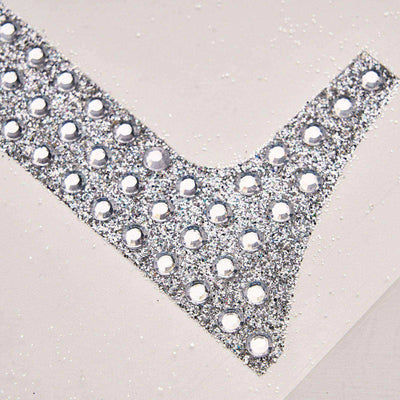 4 inch Silver Self-Adhesive Rhinestone Number Stickers for DIY Crafts - 5