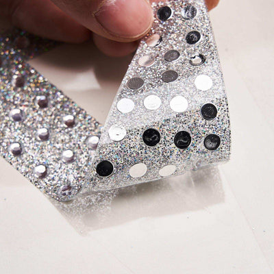 4Inch | Silver Self-Adhesive Rhinestone Letter Stickers, Alphabet Stickers for DIY Crafts - H