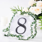 "6"" Black Self-Adhesive Rhinestone Number Stickers for DIY Crafts - 8"