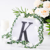 "6"" Black Self-Adhesive Rhinestone Letter Stickers, Alphabet Stickers for DIY Crafts - K"