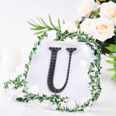 "6"" Black Self-Adhesive Rhinestone Letter Stickers, Alphabet Stickers for DIY Crafts - U"