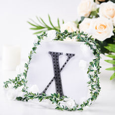 "6"" Black Self-Adhesive Rhinestone Letter Stickers, Alphabet Stickers for DIY Crafts - X"