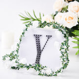 "6"" Black Self-Adhesive Rhinestone Letter Stickers, Alphabet Stickers for DIY Crafts - Y"
