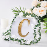 "6"" Gold Self-Adhesive Rhinestone Letter Stickers, Alphabet Stickers for DIY Crafts - C"