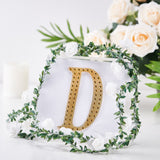 "6"" Gold Self-Adhesive Rhinestone Letter Stickers, Alphabet Stickers for DIY Crafts - D"