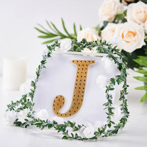 6 Inch | Silver Self-Adhesive Rhinestone Letter Stickers, Alphabet Stickers for DIY Crafts - J
