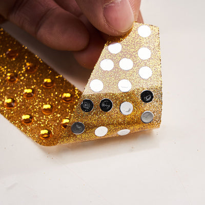 6 inch Gold Self-Adhesive Rhinestone Letter Stickers, Alphabet Stickers for DIY Crafts - O