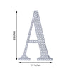6 inch Silver Self-Adhesive Rhinestone Number Stickers for DIY Crafts