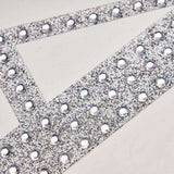 6 inch Silver Self-Adhesive Rhinestone Letter Stickers, Alphabet Stickers for DIY Crafts - L