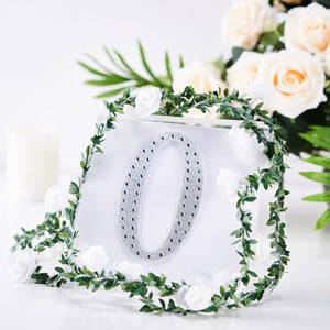 6 inch Silver Self-Adhesive Rhinestone Letter Stickers, Alphabet Stickers for DIY Crafts - O