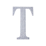 6 inch Silver Self-Adhesive Rhinestone Letter Stickers, Alphabet Stickers for DIY Crafts - T