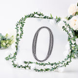 8 inch Black Self-Adhesive Rhinestone Number Stickers for DIY Crafts - 0