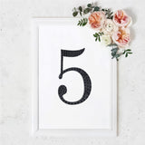 8 inch Black Self-Adhesive Rhinestone Number Stickers for DIY Crafts - 5