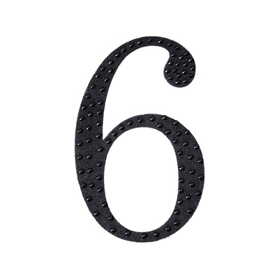 8 inch Black Self-Adhesive Rhinestone Number Stickers for DIY Crafts - 6