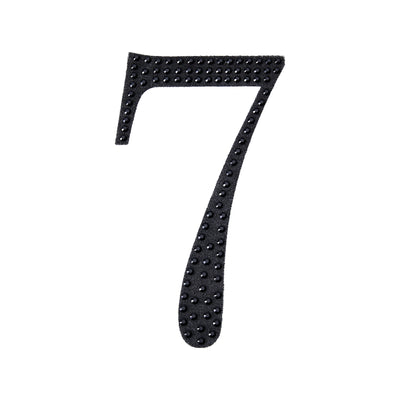 8 inch Black Self-Adhesive Rhinestone Number Stickers for DIY Crafts - 7