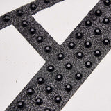 8 inch Black Self-Adhesive Rhinestone Letter Stickers, Alphabet Stickers for DIY Crafts - A