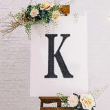 8 inch Black Self-Adhesive Rhinestone Letter Stickers, Alphabet Stickers for DIY Crafts - K